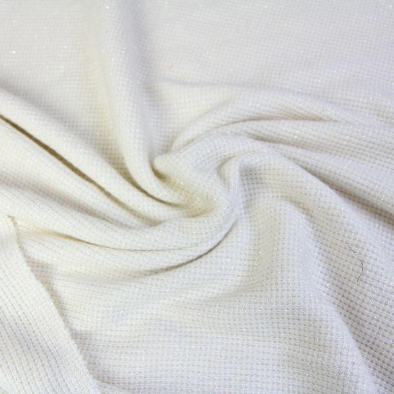 Tricot lurex blanc crème