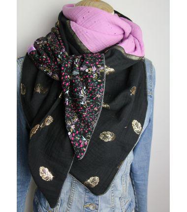 Kit foulard triangle Black parma