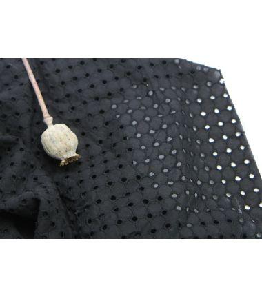 Coton ajouré noir