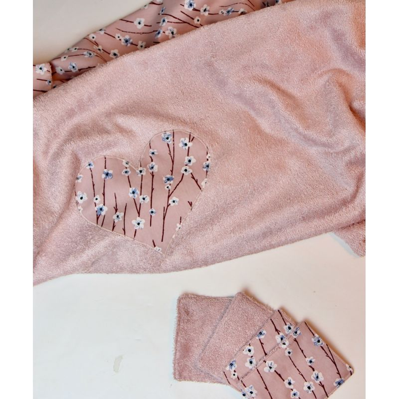 Kit essuie de plage rose Honfleur