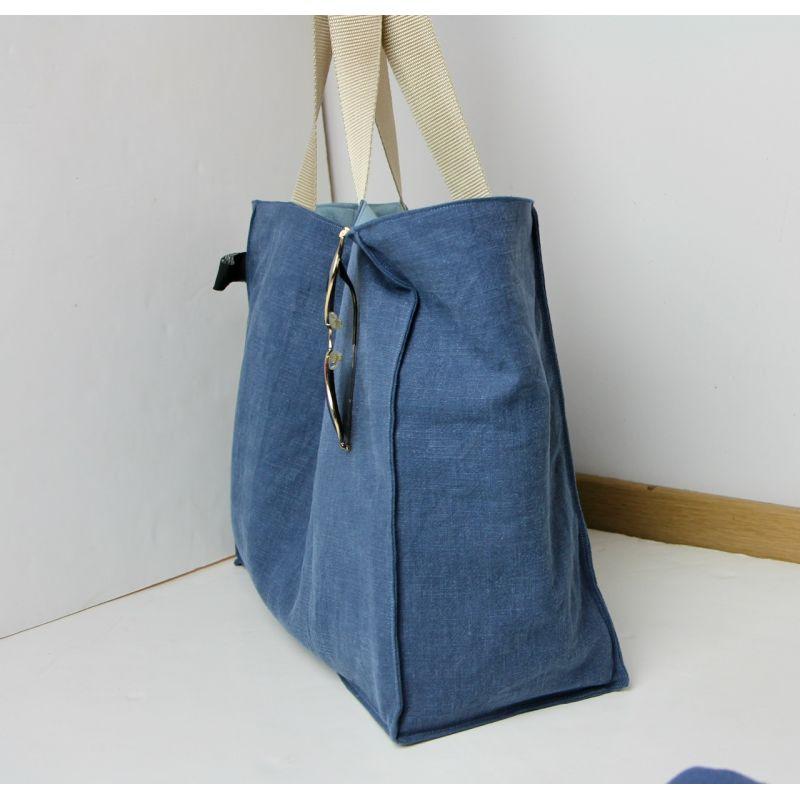 Kit sac cabas lin jeans