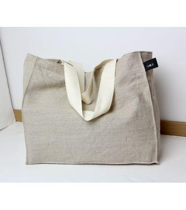 Kit sac cabas lin naturel