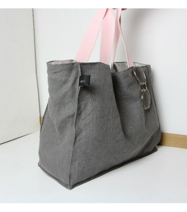 Kit sac cabas lin anthracite