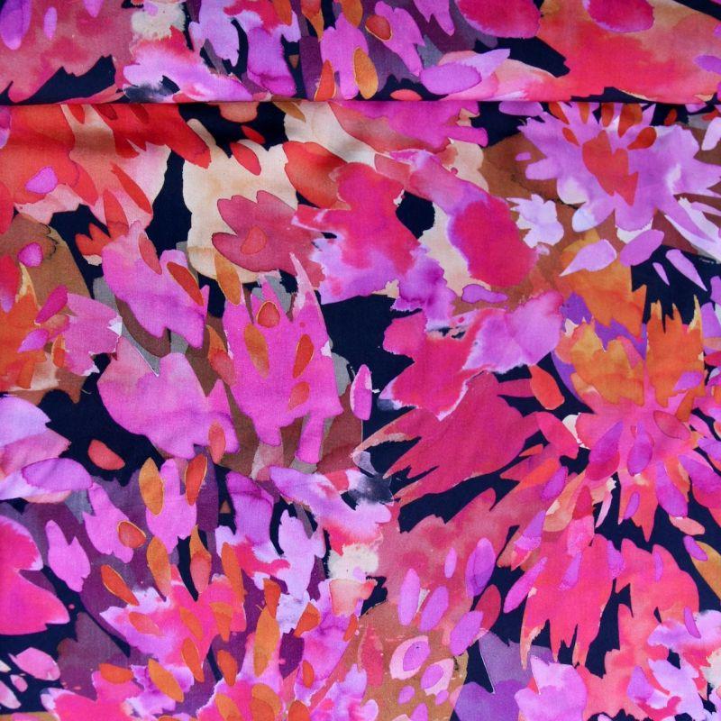 Viscose bouquet fuchsia
