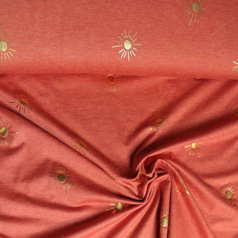 Jersey soleil d'or terracotta