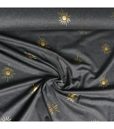 Jersey soleil d'or anthracite