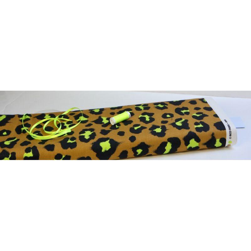 Toile de coton léopard