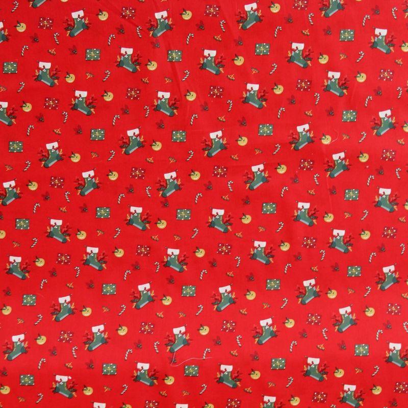 Coton bottes de Noël rouge