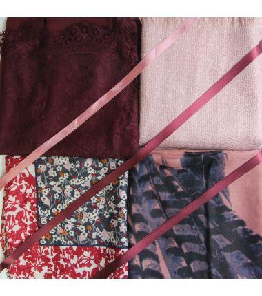 Kit grand foulard carré 4