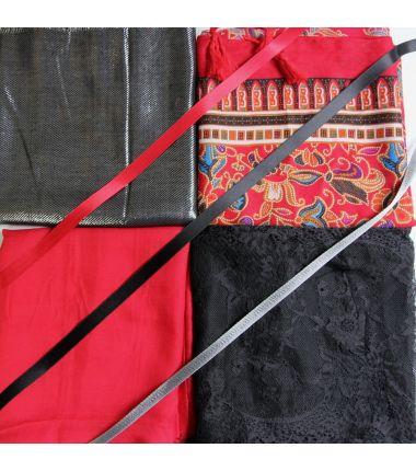 Kit grand foulard carré 5