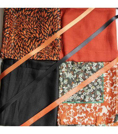 Kit grand foulard carré 26