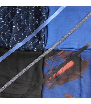 Kit grand foulard carré 27