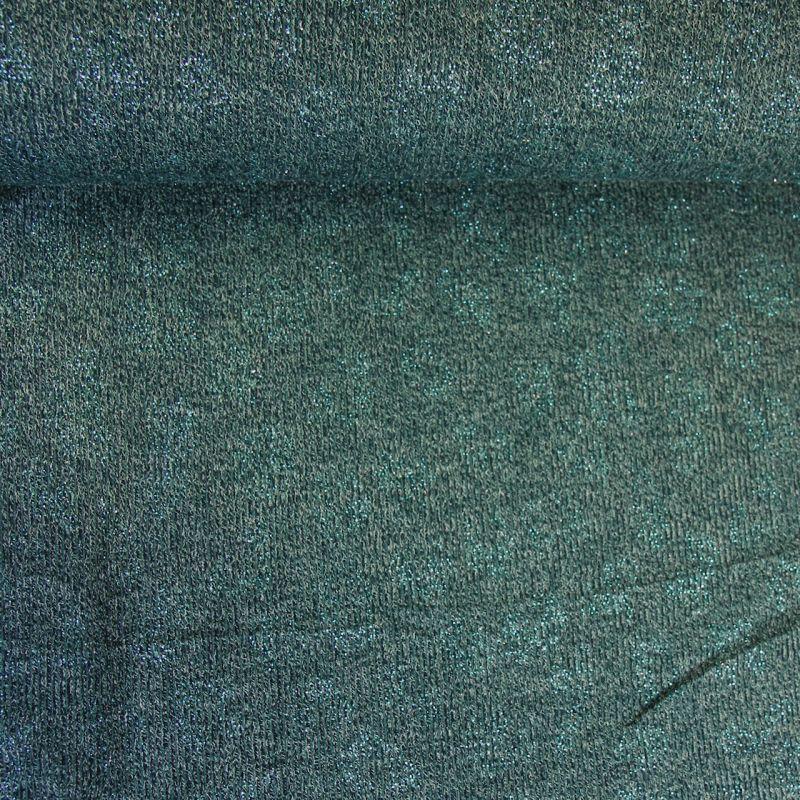 Tricot bleu canard léopard