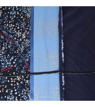 Kit foulard triangle Jeanne marine