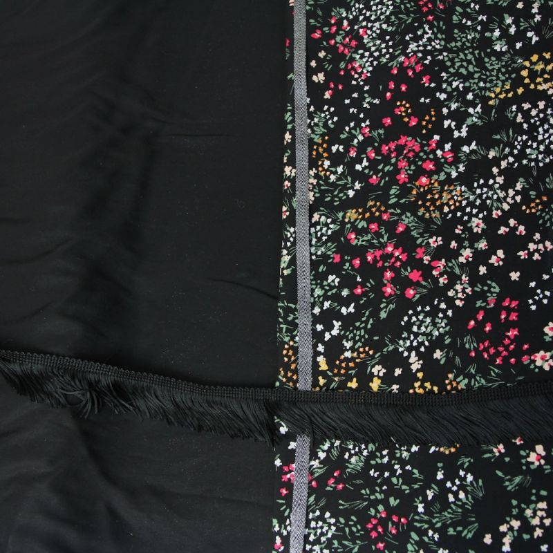 Kit foulard triangle Jeanne noir